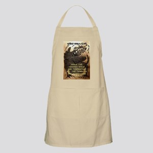 While The Wooden Idols - Igbo Proverb Light Apron