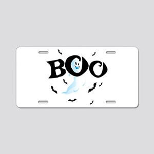 Ghost Boo Aluminum License Plate