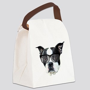 Boston terrier glasses Canvas Lunch Bag