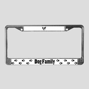 Boston terrier glasses License Plate Frame