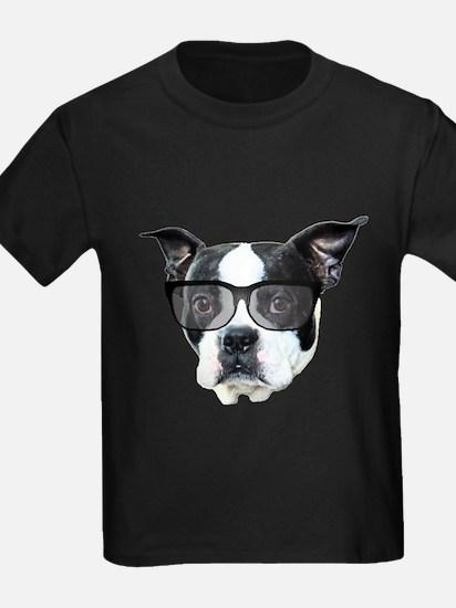 Boston terrier glasses T