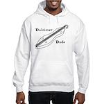 Dulcimer Dude Hooded Sweatshirt, white or ash grey