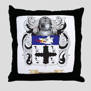Powel Coat of Arms (Family Crest) Throw Pillow