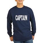 Captain (Front) Long Sleeve Dark T-Shirt