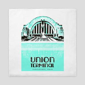 Union Terminal Queen Duvet