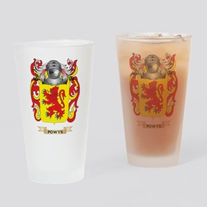 Powys Coat of Arms (Family Crest) Drinking Glass