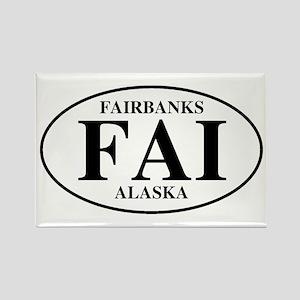 Fairbanks International Airpo Rectangle Magnet