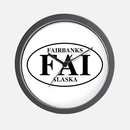 Fairbanks International Airpo Wall Clock