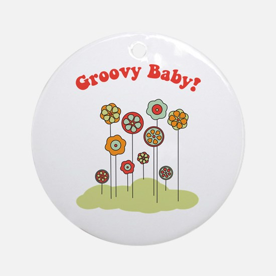Groovy Baby Ornament (Round)