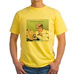 Dracula at the Dentist Yellow T-Shirt