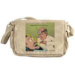 Dracula at the Dentist Messenger Bag