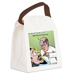 Dracula at the Dentist Canvas Lunch Bag