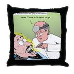 Dracula at the Dentist Throw Pillow