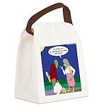 Zombie Atkins Diet Canvas Lunch Bag