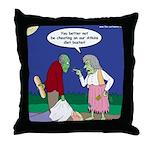 Zombie Atkins Diet Throw Pillow