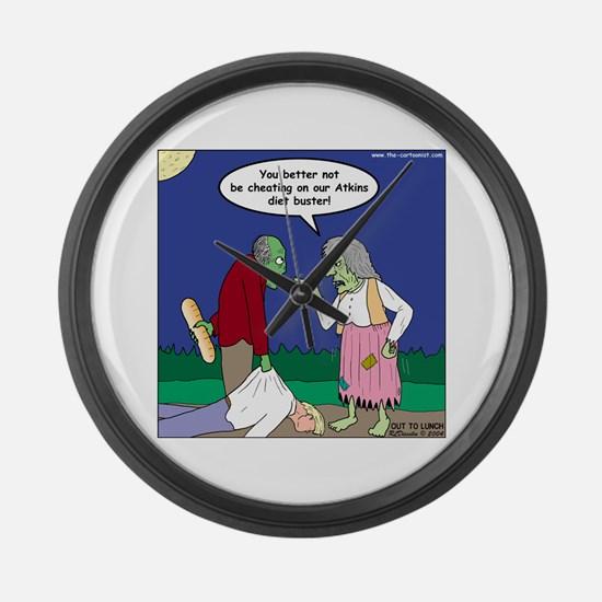 Zombie Atkins Diet Large Wall Clock