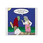 Zombie Atkins Diet Throw Blanket