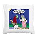 Zombie Atkins Diet Square Canvas Pillow
