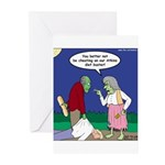 Zombie Atkins Diet Greeting Cards (Pk of 10)