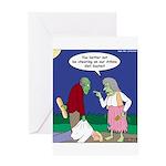 Zombie Atkins Diet Greeting Card
