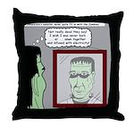 Frankenstein Zombie Throw Pillow