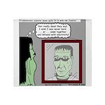 Frankenstein Zombie Throw Blanket