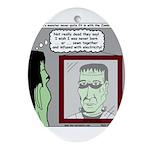 Frankenstein Zombie Ornament (Oval)