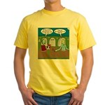 Zombie Halloween Party Yellow T-Shirt