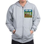Zombie Halloween Party Zip Hoodie