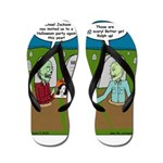 Zombie Halloween Party Flip Flops
