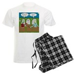 Zombie Halloween Party Men's Light Pajamas