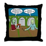 Zombie Halloween Party Throw Pillow