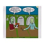 Zombie Halloween Party Throw Blanket