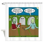 Zombie Halloween Party Shower Curtain
