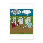 Zombie Halloween Party Mini Poster Print