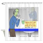 Zombie Restaurant Employees Shower Curtain