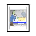 Zombie Restaurant Employees Framed Panel Print