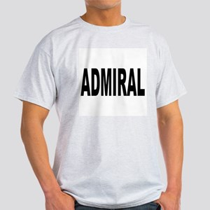 Admiral (Front) Ash Grey T-Shirt
