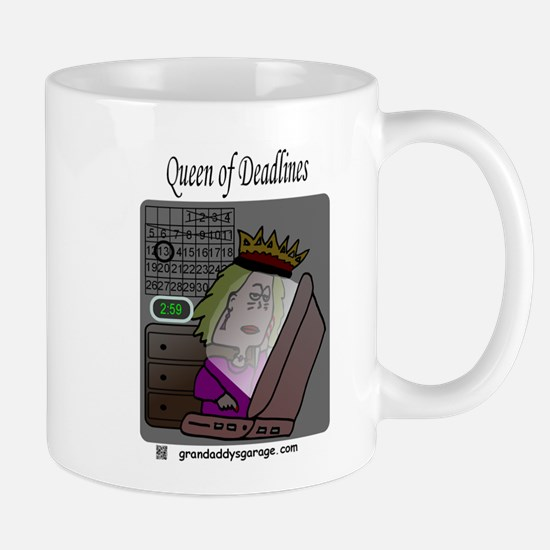 Queen of Deadlines Mugs