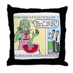 Zombie Punch Throw Pillow