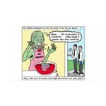 Zombie Punch 35x21 Wall Decal