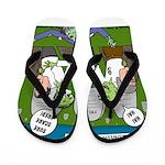 Zombie Surprise Flip Flops