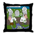 Zombie Surprise Throw Pillow