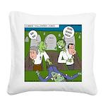 Zombie Surprise Square Canvas Pillow