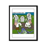 Zombie Surprise Framed Panel Print