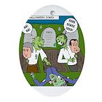 Zombie Surprise Ornament (Oval)