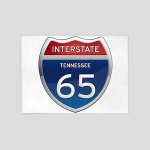Interstate 65 5'x7'Area Rug