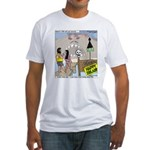 Zombie Island Fitted T-Shirt
