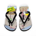 Zombie Island Flip Flops