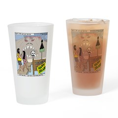 Zombie Island Drinking Glass
